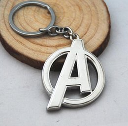 $enCountryForm.capitalKeyWord Canada - NEW Movie Key Chain Marvel's The Avengers A letter Alloy keychain wedding favors keychan cc35
