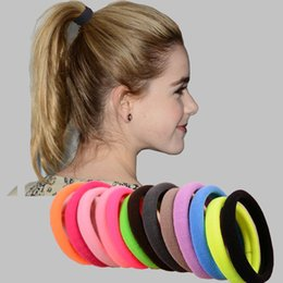 $enCountryForm.capitalKeyWord Canada - 100Pcs Lot Hair Ornaments Big Size Candy Colored Quality Elastic Ponytail Holders Accessories Girl Women Hair Rubber Bands Tie Gum