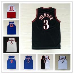 3 Allen Iverson Jersey 13 Wilt Chamberlain Mens Jerseys Georgetown Hoyas  Throwback Allen Iverson Basketball Jerseys ... 11145234f