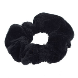Chinese  Fashion Velvet Elastic Scrunchie Donut Grip Hair Loop Ponytail Holder Stretchy manufacturers