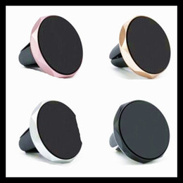 Silicone Phone Holder For Car Canada - Universal Metal Air Vent Magnetic Mobile Phone Holder For iPhone Samsung Magnet Car Phone Holder Aluminum Silicone Mount Holder Stand