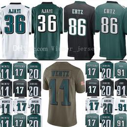 1c5cad505 36 Jay Ajayi 86 Zach Ertz Jersey 11 Carson Wentz Fletcher Cox Alshon  Jeffery Brian Dawkins 2017 Salute to Service Limited Jerseys ...