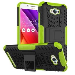 $enCountryForm.capitalKeyWord Canada - FOR ASUS ZenFone 3 ZE552KL Deluxe Zs570kL Laser Zc551KL Dazzle Hybrid KickStand Impact Rugged Heavy Duty TPU+PC Shock Proof Cover Case 50pcs