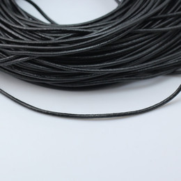 String Jewelry Making Canada - Beadsnice black leather cord natural leather cord thickness 3mm for DIY jewelry necklace bracelet making string ID 3453