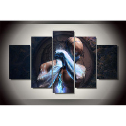 $enCountryForm.capitalKeyWord UK - 5 Panels mortal kombat sub zero Modern Abstract Canvas Oil Painting Print Wall Art Decor for Living Room Home Decoration Framed Unframemcla