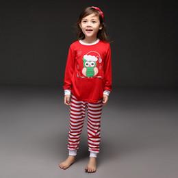 China Pettigirl Retail Drop Shipping Girls Pajamas Suits Christmas Gift Red Shirts&Striped Pants Clothing Set Children Wear CS41111-01 cheap retail children suit girl suppliers