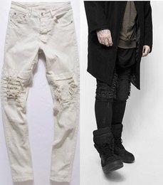 Pantalon De Drap Pas Cher-Jeans Rétro Jeans Ripped Skinny Biker Détruit Effiloché Slim Fit Denim Pantalon Crayon Pantalon Regular Fashion 28-36