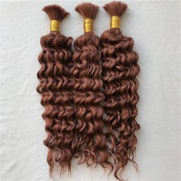 brazilian braiding 2019 - #33 Bulk Hair For Braiding Mongolian Deep Wave Human Hair Bulk 8-28inch No Shedding G-EASY discount brazilian braiding