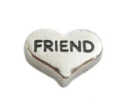 Chinese  20PCS lot DIY Friend Alloy Heart Floating Locket Charms Fit For Memory Magnetic Locket Necklace Making manufacturers
