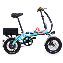 Super mini bikeS online shopping - 14 Inches Super Capacity Li ion Battery V A kg Weight Electric Bicycle Double Damper Mini Folding E Bike