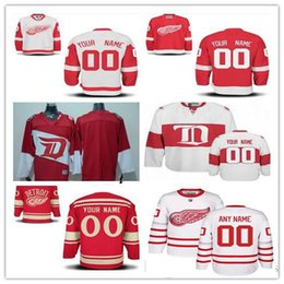 f5bfe785 ... Jersey Stitched Custom Detroit Red Wings mens womens youth White 2017  Centennial Classic Winter Customized Red Stadium Reebok ...
