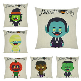Funny cushion cases online shopping - Cushion Cover Pillow Cover Style Halloween Party Funny Cartoon Pattern Cotton Pillowcases Home Decor Pillow Case
