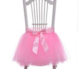 $enCountryForm.capitalKeyWord UK - Tutu tulle chair Skirt wedding back tutu chair Cover ribbon border customized length for Party New year Christmas baby shown