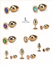 $enCountryForm.capitalKeyWord UK - New Arrival Gold Sex Toys Anal plug Metal Attractive Butt Plug Jewelry Jeweled Anal Plug Rosebud Anal Jewelry Large Size