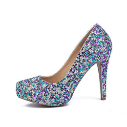 $enCountryForm.capitalKeyWord NZ - 2019 New Closed Toe Platform Wedding Party Shoes Free Shipping Women Shoes Sapatos Femininos Mixcolor Crystal Lady Prom Pumps