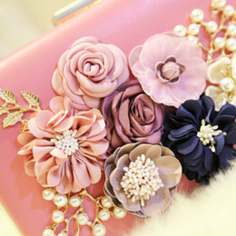 High End Hand Bags Australia - Factory direct handbags high-end stereo flower woman hand bag elegant lady diamond Dinner Bag party dress collocation flower chain small pac