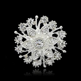 Vintage rhinestone pins online shopping - Christmas Brooches Fashion Jewelry Vintage Style Rhinestone Brooches Pins Wholesales Crystal Diamante Party Brooches Pins for Women