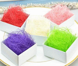 Gift boxes filler online shopping - 100g Raffia Jute Wedding Party Gift Candy Packing Material Box