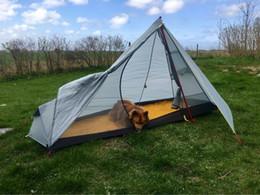 Wholesale- 3F UL GEAR Oudoor Ultralight C&ing Tent 1 Man Single Person Lightweight Non Poles C& Tents gray green orange & Gear Poles NZ | Buy New Gear Poles Online from Best Sellers ...