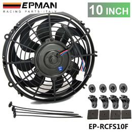 "fans 12 2019 - TANSKY - 10"" Universal EPMAN 12 V 70W Slim Pull Push Racing Electric Radiator Engine Cooling Fan EP-RCFS10F cheap f"