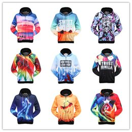 sweater cartoon couple Australia - Wholesale 3D Hooded Jacket zipper jacket sweater and cashmere jacket warm male couple cartoon European fat.