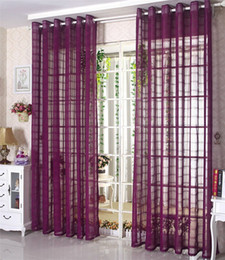 living curtains NZ - Wholesale! Eco-friendly Solid Color Linen Sheer Curtain For Living Room Bedroom Tulle Curtains