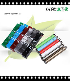 batteries for ego c NZ - Vision Spinner 2 1600mAh Variable Voltage Battery 3.3V-4.8V eGo c Twist Battery Spinner II Large For Vaporizer 11 Colors bestvaporseller
