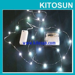 hot wholesale cr2032 coin battery operated led copper string light high quality small battery powered mini led christmas light - Battery Operated Mini Christmas Lights