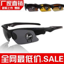 Cheap Half Frames Glasses NZ - 2015New arrival cheap Night vision goggles sunglasses driving cycling UV polarized sunglass sport glass brand men women glasses good quality