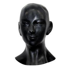 Al por mayor-Nuevo más grueso 1 mm Anatómica 3D máscara w orejas fetiche capucha de látex de caucho Sexy Sonrisa cara hombres pesados mujeres