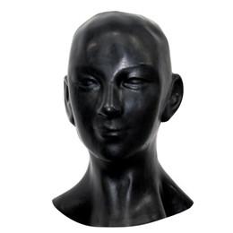 Wholesale-New plus dicke 1mm anatomische 3D Maske w Ohren Fetisch Latex Kapuze Sexy Gummi Lächeln Gesicht schwere Männer Frauen