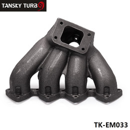 Wholesale TANSKY - T3 Top Mount Cast Iron Turbo Manifold Exhaust Header with 38mm Wastegate Port For Honda Civic B16 B18 B-Series TK-EM033