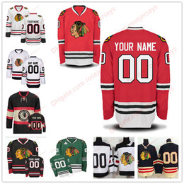 622356e37 Stitched Custom Chicago Blackhawks mens womens youth OLD BRAND 2017 Winter  Classic Green White Red Black Third ice hockey cheap Jersey S-4XL ...