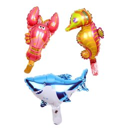 $enCountryForm.capitalKeyWord UK - 50pcs lot mini Hippocampus lobster foil balloons 16inch Marine life globos ocean animal theme party supplies air baloes kids toy