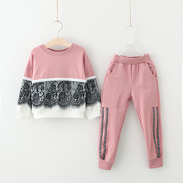 online shopping Children Clothes Autumn Winter Girls Clothes T shirt Pant Christmas Outfit Kids Sport Suit For Girls Clothing Sets