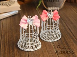 Bonbon De Mariage De Style Européen Pas Cher-100Pcs / Lot mariage de style européen cloches Candy Box White Bird Cage porteurs Favor Wedding Et Gift Box Party 2016 New Style
