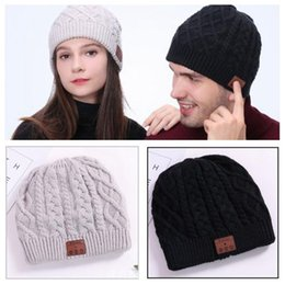 Bluetooth golf hat online shopping - 2 Colors Wireless Bluetooth Beanies Sport Music Hat Smart Headset Cap Warm Winter Hat With Mic Speaker For All Smart Phones CCA8045