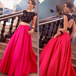 Discount Crop Top Skirt Prom Dress | 2017 Crop Top Skirt Prom ...