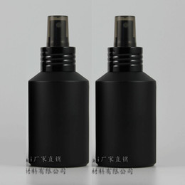 Black Frosted Cosmetic Bottles Wholesale Canada - 125ml black frosted Glass lotion bottle with black aluminum pump,cosmetic packing,cosmetic bottle,packing for liquid