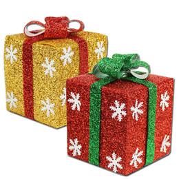 Gold Gift Box Christmas Ornaments Online  Gold Gift Box Christmas