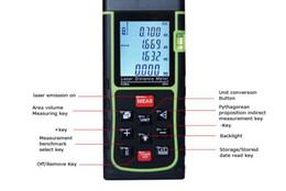 Laser Measurement Canada - Protable Digital LCD Hand held Laser Distance 40M Diameter Meter Measure Finder Length, area, volume, Pythagorean theorem measurement