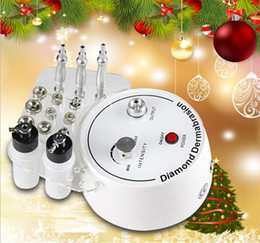 microdermabrasion vacuum spray machine NZ - Christmas Promotion!!! 3 In 1 Diamond Microdermabrasion Dermabrasion Beauty Machine Vacuum Spray Face Clean Dirty Pores CE Free Shipping