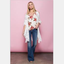$enCountryForm.capitalKeyWord Canada - Women tops white blouses 2017 spring fashion white half-sleeved Swallowtail flower lace blouse female Openwork wave outwear