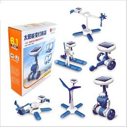 $enCountryForm.capitalKeyWord Australia - Solar Power 6 in 1 space fleet Toy Kit DIY Educational Robot airplane boat car Train model student experiment prop kids gift