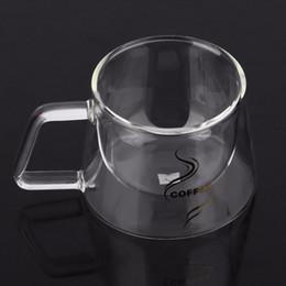 $enCountryForm.capitalKeyWord Australia - Double Layer Glass Coffee Mug Cup Borosilicate Glass Water Bottle Chinese Tea Fashion Design Heat Resistant Handle Cup 200ML
