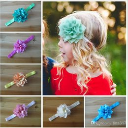 Hair Angles Canada - Wholesale children's hair accessories Multilayer Angle with elastic hair lead flowe