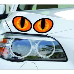 $enCountryForm.capitalKeyWord NZ - Wholesale- 10 Pair 3D mini Eagle Eyes Car Decals Sticker Personalized Rearview Car Sticker 10x8cm