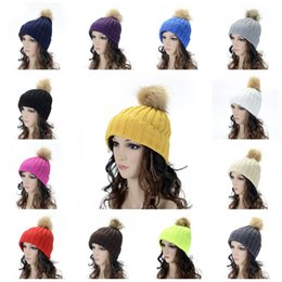 36dc7c550 Line wooL hats online shopping - Plain Winter Knitted Hat Keep Warm Women  Beanie Curling Crochet