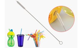 $enCountryForm.capitalKeyWord Canada - 1500pcs Wholesale Straw Cleaning Brush Stainless Steel Wash Drinking Pipe Straw Brushes Brush 17.5cm 6mm Cleaner Cheap