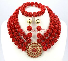 Fashionable Necklace Beads Canada - 2016 Fashionable African Beads Jewelry Set Purple Costume Nigerian Wedding African Bridal Jewelry Set Free Shipping BS301-3